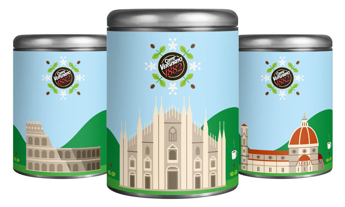 Caffè Vergnano packaging